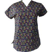 Palmiye Üniforma Kadın Nota Desenli Hemşire Veteriner Masör Forması