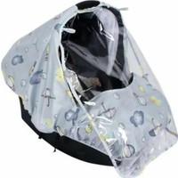 Sevi Bebe Desenli Lüks Anakucağı Yağmurluğu - Gri