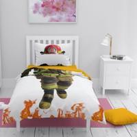 MonoHome İtfaiyeci 3D Pamuk Saten Çocuk Nevresim Takımı