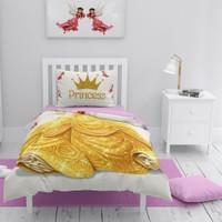 MonoHome Prenses 3D Pamuk Saten Çocuk Nevresim Takımı