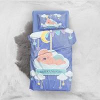 MonoHome Bebek Uyuyor 3D Pamuk Saten Bebek Nevresim Takımı