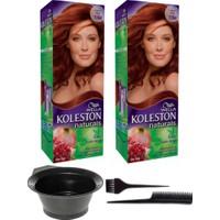 Wella 2'li Koleston Naturals 7/64 Vişne Kızılı Kalıcı Krem Saç Boyası ve Saç Boyama Seti