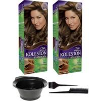 Wella 2'li Koleston Naturals 6/73 Ay Işığı Kahvesi Kalıcı Krem Saç Boyası ve Saç Boyama Seti
