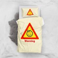 MonoHome Dikkat Bebek Var 3D Pamuk Saten Bebek Nevresim Takımı
