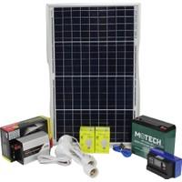 İsos Güneş Paneli 40 W + Solar Aydınlatma 240 W 220 V + Şarj Paketi 22 A Akülü + 3 Lambalı