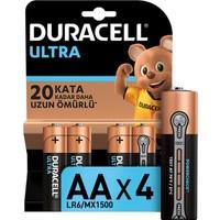 Duracell Ultra Alkalin AA Kalem Piller 4'lü paket