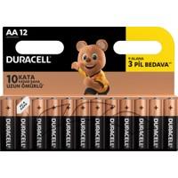 Duracell Alkalin AA Kalem Piller 12'li paket