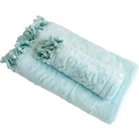 Bersay İkili Banyo Havlu Seti Açık Yeşil