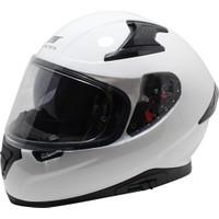 Mts M-917 Snake Beyaz Full Face Güneş Vizörlü Motosiklet Kaskı
