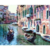 Hesaplı Aksesuar Kendin Yap Numaralı Tablo Seti Yağlı Boya ve Fırça Venedik 40 x 50 cm
