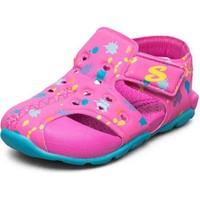 Skechers Side Wave - Küçük Kız Çocuk Pembe Sandalet 86428N Hptq
