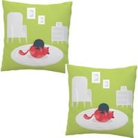 Elele Home Dekoratif Yastık Kırlent Kılıfı-EYS-256-2-SET