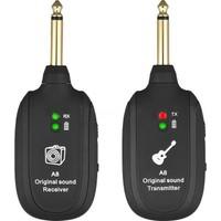 Schulzz Profesyonel Uhf Gitar Kablosuz Şarj Edilebilir Audio Alıcı - Verici Seti