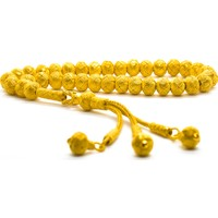 KSG Altın Kaplama Kazaziye El Örmesi 1000 Ayar Gümüş Tesbih