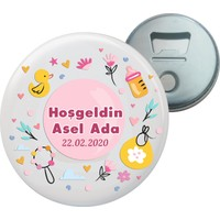Grafilli Design Hoşgeldin Bebek Magnet Açacak - 10 Adet 022