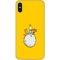 Casethrone Apple iPhone XS Max Sarı İçi Kadife Silikon Telefon Kılıfı Sr30 Kucuk Prens
