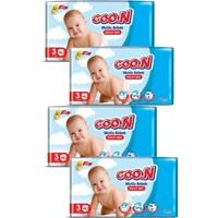 Goon Mutlu Bebek Külot Bezi 3 Beden 46'lı 4 Paket