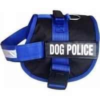 Dog Police Kostüm Büyük Boy Köpek Göğüs Tasması Mavi