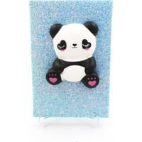 Hediye Deposu Mavi Panda Squishy Simli Kendi Kutusunda Kabartmalı Sukuşi