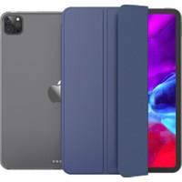 Fujimax Apple iPad Pro 11 2020 2.nesil 3 Kameralı A2228 A2068 A2230 A2231 Seri Uyku Modlu Shock Proof Arka Sert P.c Smart Tablet Kılıf Lacivert
