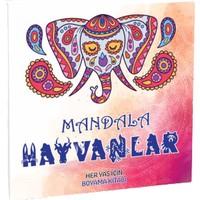 Mandala Hayvanlar Her Yaş Için Boyama Kitabı