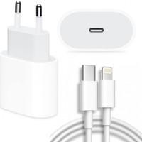 Daytona Apple iPhone 11/11 Pro/ 12 /12 Pro Max 18W Hızlı Şarj Cihazı ve 1 Metre USB C Lightning Şarj Kablosu Set