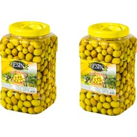 Esin Zeytin Ege'nin İncisi Esin Kahvaltılık Yeşil Çizik Zeytin 2 kg