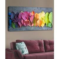 Shop365 Renkli Yapraklar Kanvas Tablo 120 x 60 cm
