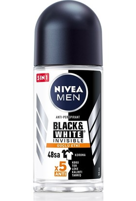 Nıvea Men Black & white Invısıble Güçlü Etki Erkek Roll On Deodorant 50 Ml