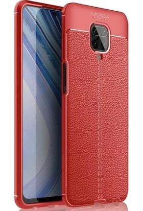 Case 4U Xiaomi Redmi Note 9S / Note 9 Pro Kılıf Darbeye Dayanıklı Niss Arka Kapak + Cam Ekran Koruyucu Kırmızı