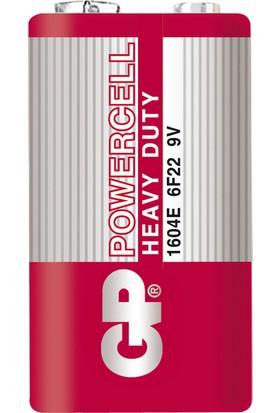 Gp 1604E Powercell 9V Pil Çinko Karbon, 1604 6F22, 10'lu