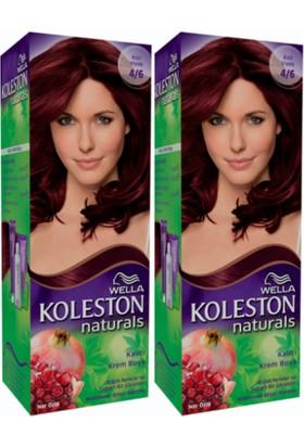 Wella 2'li Koleston Naturals 4/6 Kızıl Viyole - Kalıcı Krem Saç Boyası