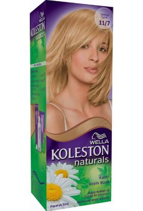 Wella Koleston Naturals 11/7 Vanilya Sarısı - Kalıcı Krem Saç Boyası