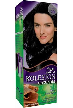 Wella Koleston Naturals 2/0 Siyah - Kalıcı Krem Saç Boyası
