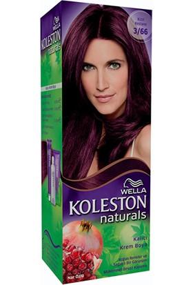Wella Koleston Naturals 3/66 Kızıl Kestane - Kalıcı Krem Saç Boyası