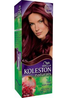 Wella Koleston Naturals 5/45 Koyu Nar Kızılı - Kalıcı Krem Saç Boyası