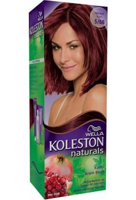 Wella Koleston Naturals 5/66 Mürdüm Kızılı - Kalıcı Krem Saç Boyası