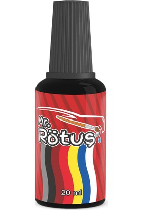 Mr Rötuş® Çizik Giderici Oto Rötuş Boyası Patentli - Siyah 10 ml
