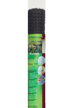 Intermas 170613 AVINET Siyah 2x200 m 24x27 mm UV Filtreli Yüksek Dayanıklı Çok Amaçlı Plastik Ağ (PP)