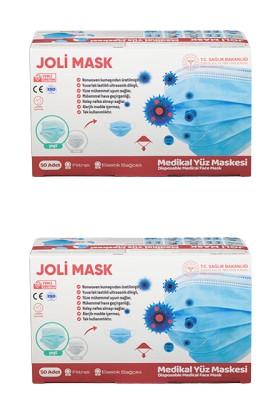 Joli Mask 3 Katlı ve Telli Cerrahi Maske 50'li 2 Adet