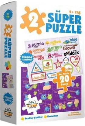 0-6 Yaş Yayınları Süper Puzzle 20 Parça Renkler Şekiller Kavramlar 2 Puzzle Eva Malzeme