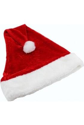 Kostümce Çocuk Noel Baba Şapkası Kadife