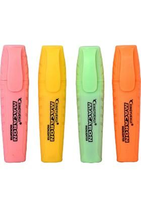 Homix Pastel Renk Fosforlu Kalem 4'lü