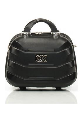 Ox Exclusive Siyah Makyaj Çantası