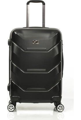Ox Exclusive 2 Li Siyah Valiz Seti (Büyük + Orta )
