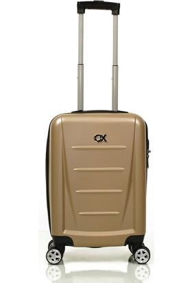 Ox Dominica 2 Li Gold Valiz Seti ( Orta + Kabin )