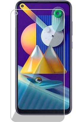 Case 4U Samsung Galaxy M11 Cam Ekran Koruyucu Temperli Şeffaf