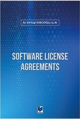 Software License Agreements - Elif Ezgi Sıvacıoğlu