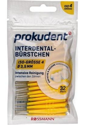 Prokudent Sarı Arayüz Fırçası 0,7 mm - 3,5 mm 32 Adet