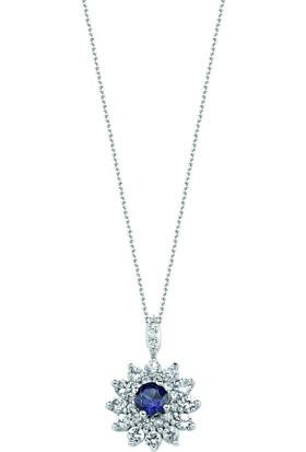 Valentine Diamond Pırlantalı Safirli Kolye - Pole Star-P